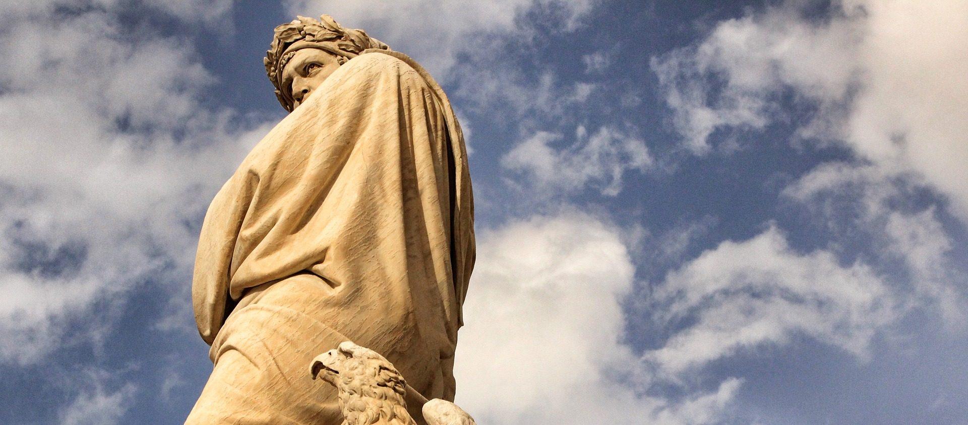 Dante in Piazza Santa Croce a Firenze
