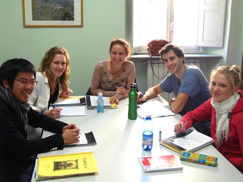 Gruppo di studenti di italiano a Firenze