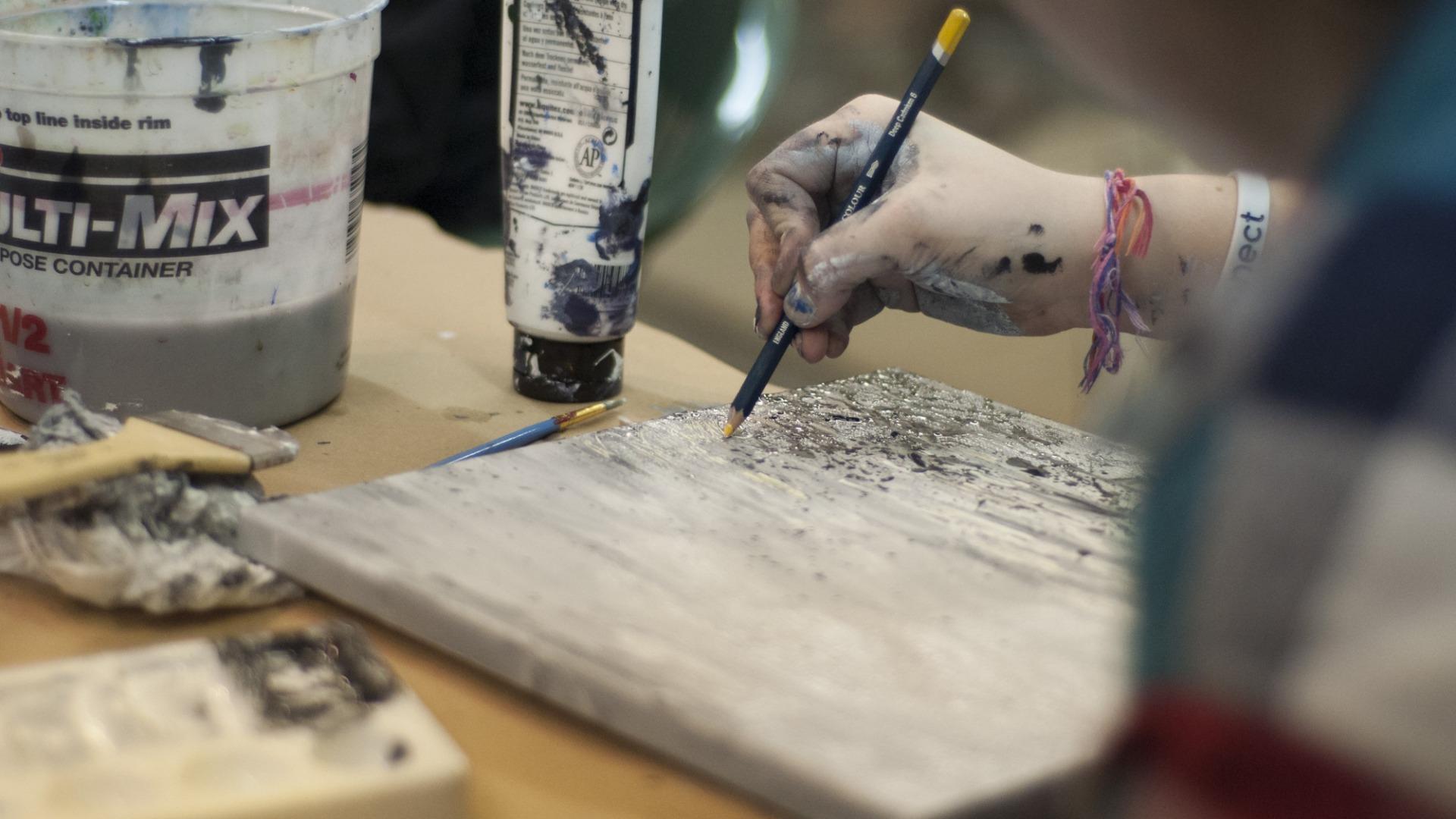 Zeichenkurs in einem Atelier