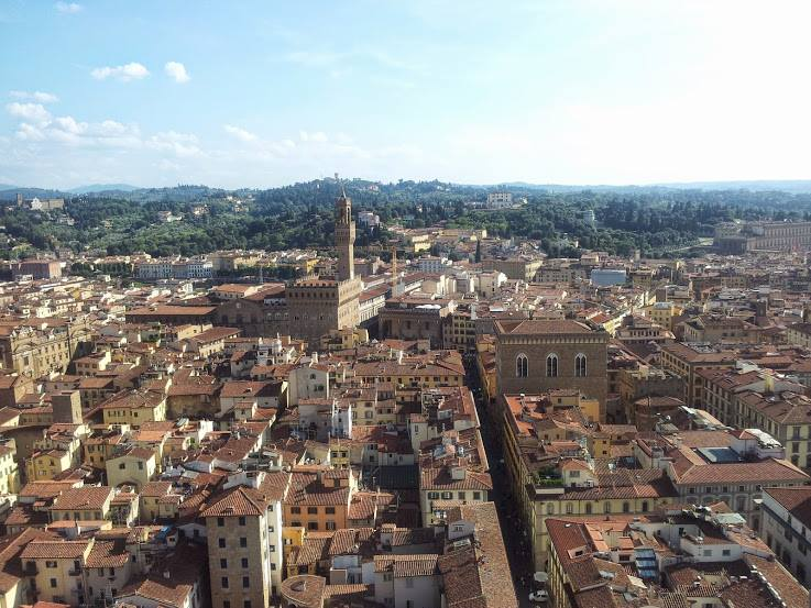 View of the historic center of Florence