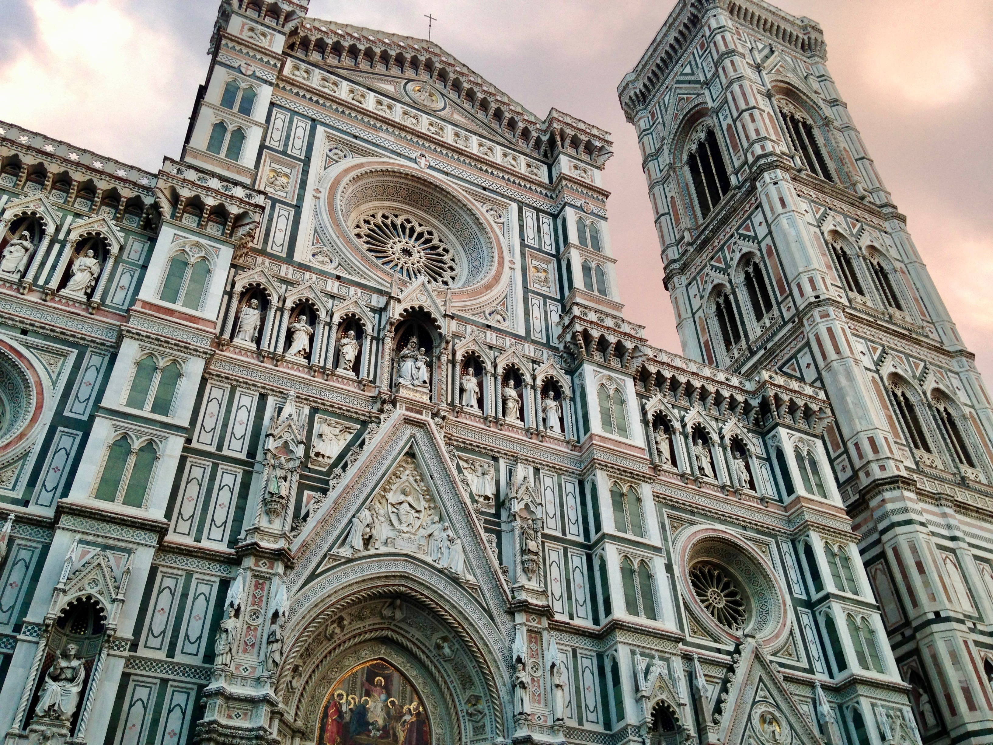 Florence cathedral with a sky view