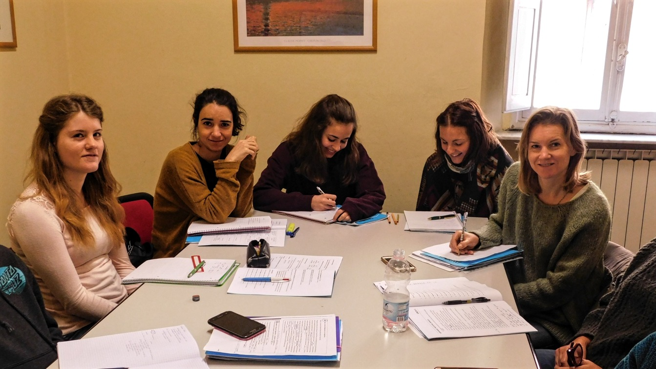 Group language class in Florence