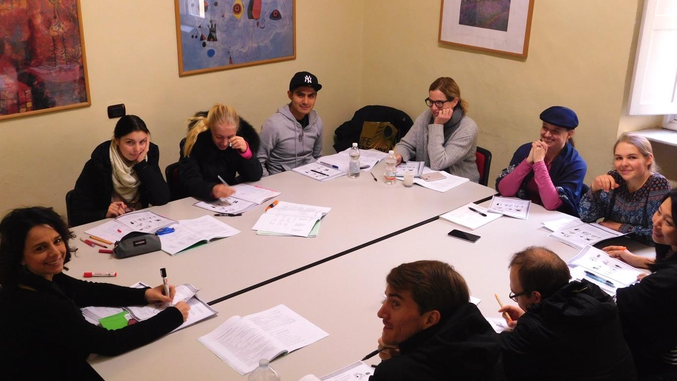 Students enjoy their grammar lesson at Parola school