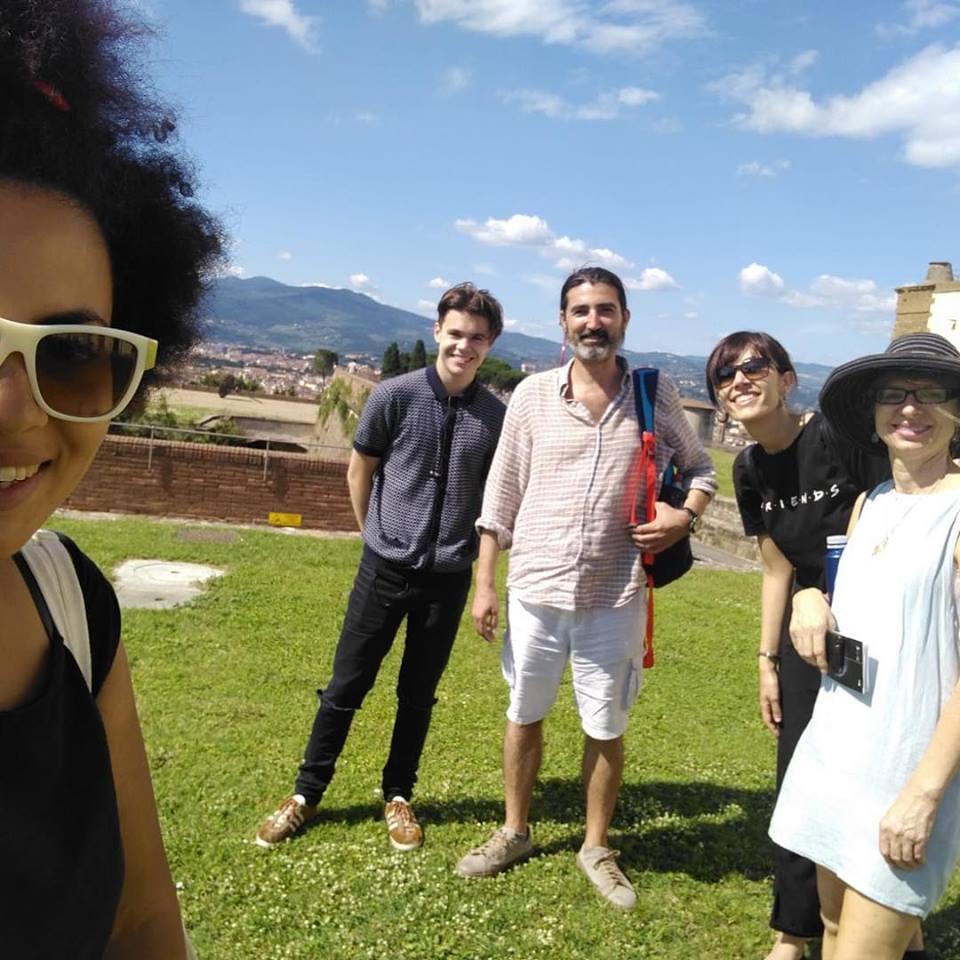 Studenti in gita a Cortona ne sud della Toscana