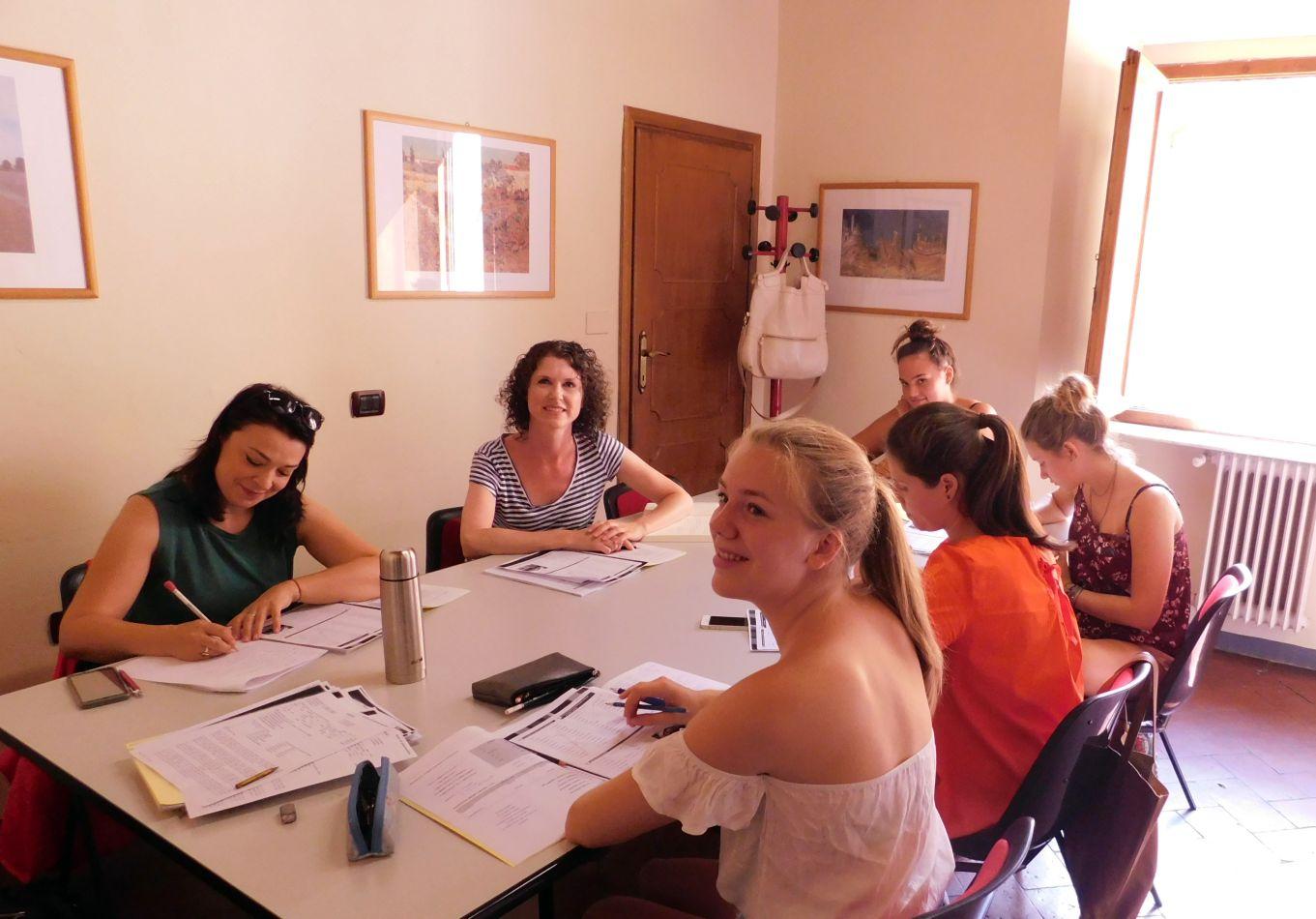 Estudiantes de idioma italiano en Florencia