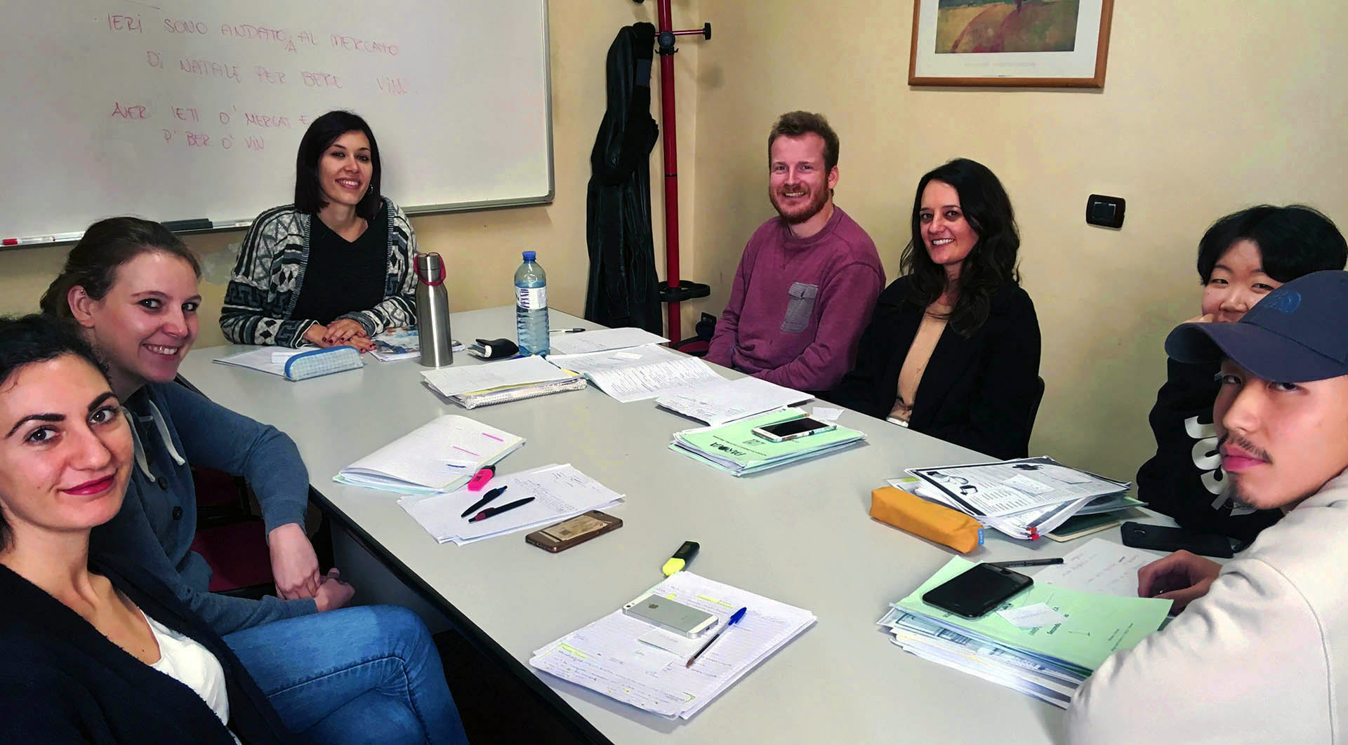 Italian language class in Florence at Parola school