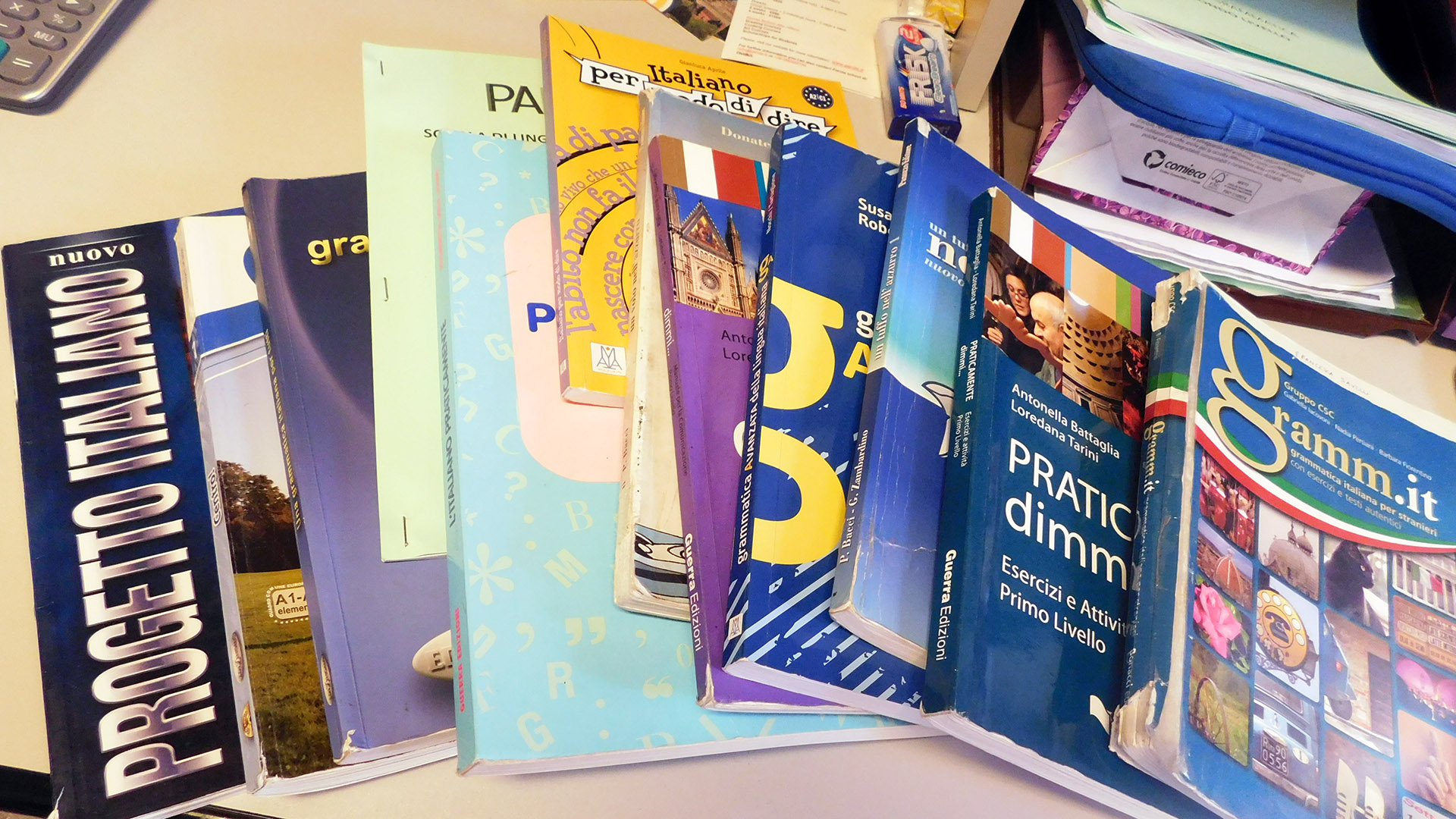 Books for Italian language teaching