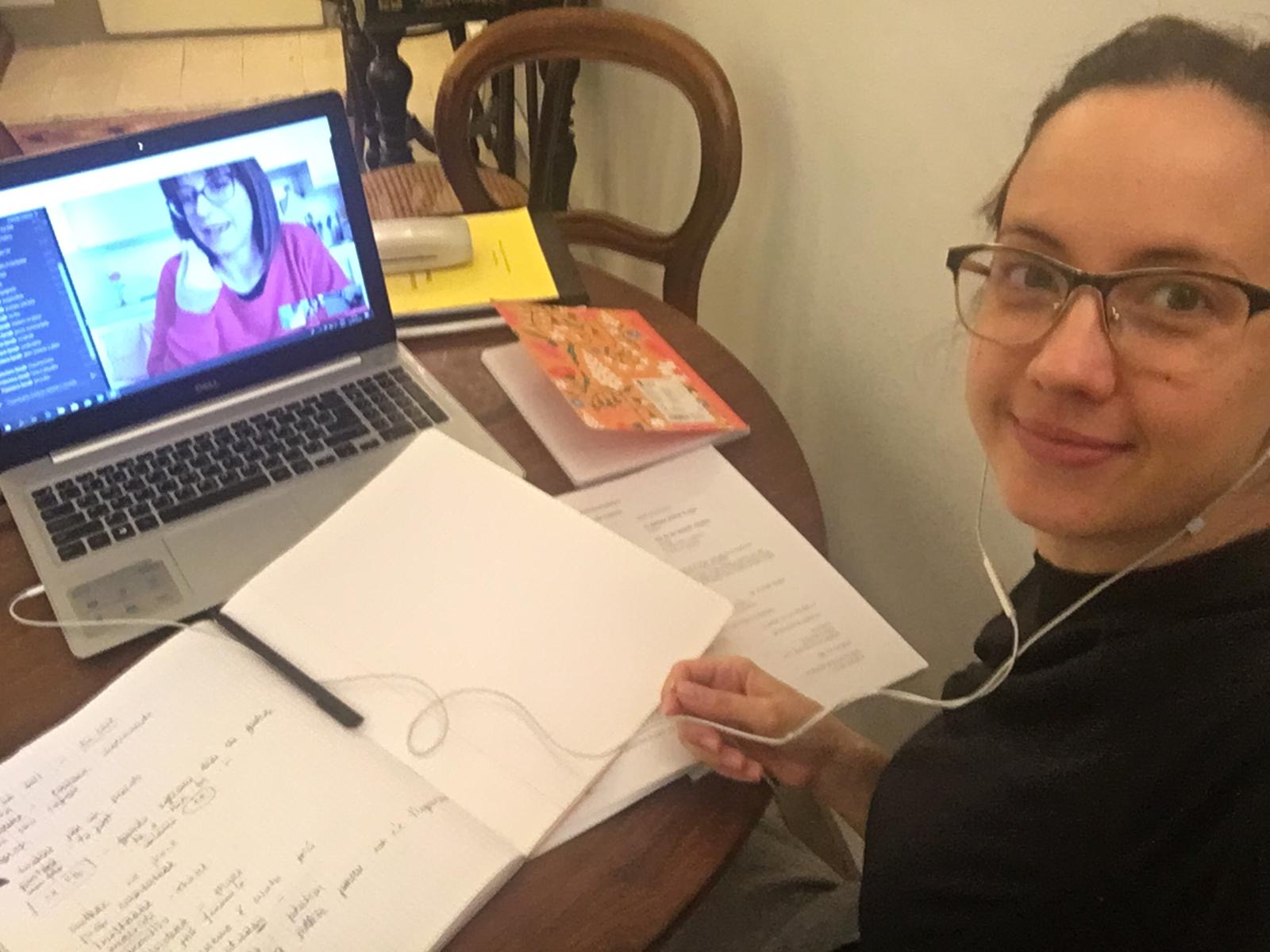 Online Italian language lesson from home