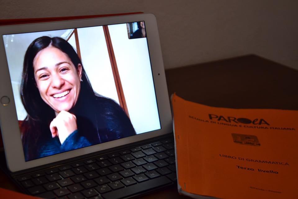 Studentessa di lingua italiana online di Parola