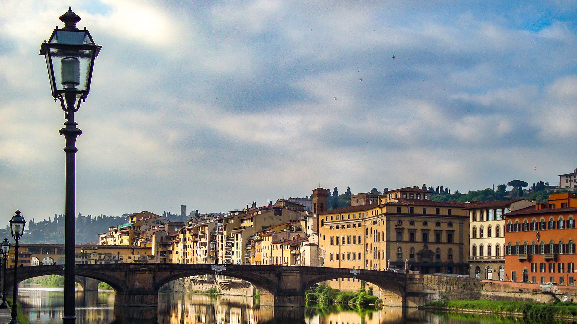 View of Florence and the river Arno