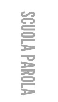 Scritta verticale della scuola Parola di Firenze